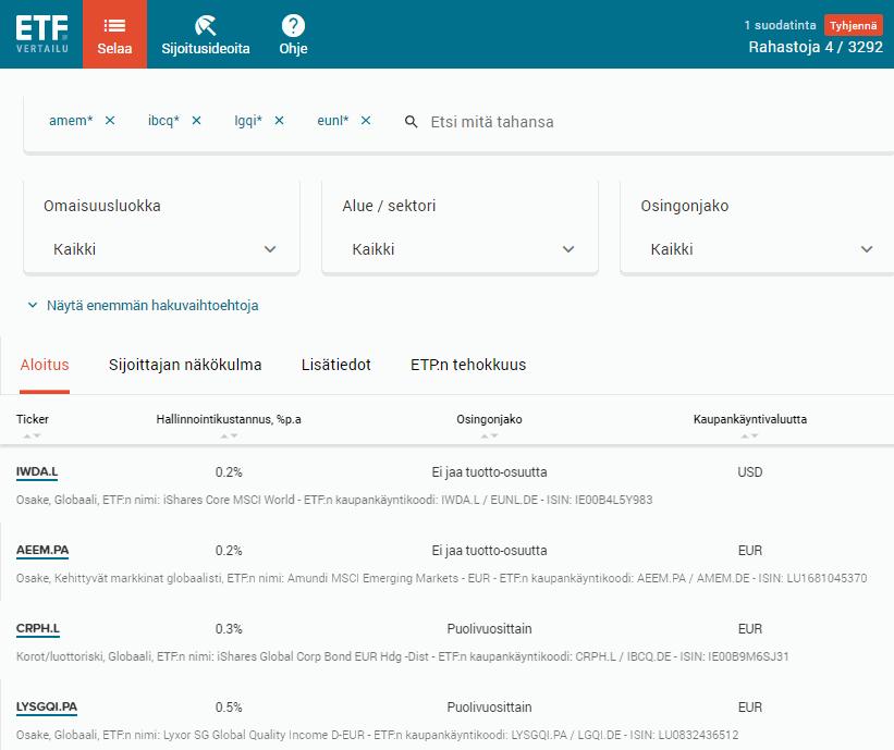 ETF-työkalu, Miten sijoittaa ETF
