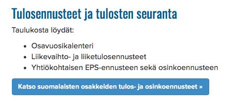 tuloskausi, tulosseuranta, suomalaiset osakkeet, näin seuraat tuloskautta